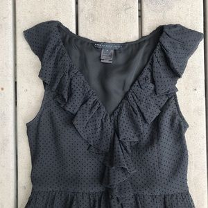 Marc By Marc Jacobs Dresses - MARC JACOBS Black Silk Dot Ruffle Dress 4